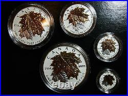 RARE collectible! Canada 2014 Fine Silver Fractional Set Maple Leaf