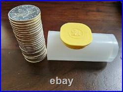 Roll of 25 (2011) Canadian 9999 Silver Maple Leaf Bullion Coins- mint, uncirc