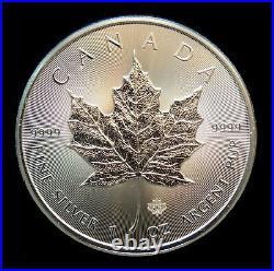 Roll of 25 2014 Canadian 1 Oz Silver Maple Leaf. 9999 Fine Silver Free Shipping