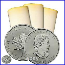 Roll of 25 2021 Canada 1 oz Silver Maple Leaf Coins BU IN STOCK