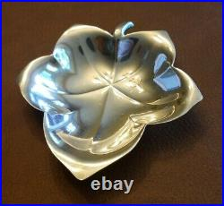 Set Of Three Tiffany & Co. Sterling Silver Maple Leaf Dishes