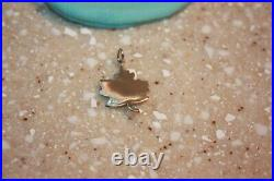 Tiffany & Co. 925 Silver Authentic Charms Maple Leaf Charm Pendant RARE