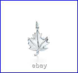 Tiffany & Co. 925 Silver Authentic Charms Maple Leaf Charm RARE