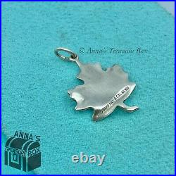 Tiffany & Co. 925 Silver Matte Canadian Maple Leaf Charm Pendant (pouch)