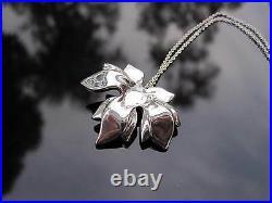 Tiffany & Co RARE Silver Maple Leaf Pendant Necklace