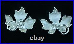 Tiffany & Co. Sterling Silver Maple Leaf Earrings